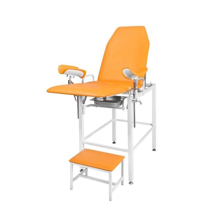 Кресло гинекологическое - урологическое «Clear» с фиксированной высотой, модель КГФВ-02п (с передвижной ступенькой)