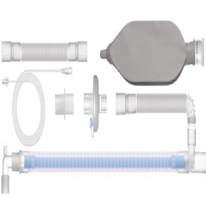 Контур дыхательный коаксиальный с дополнительным шлангом, резервным мешком, линией газоанализа и бактериально-вирусным фильтром, 1.8 м