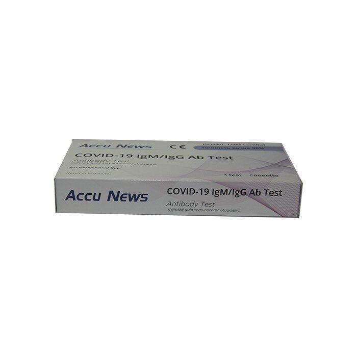 Экспресс-тест Accu News COVID-19 IgM/IgG Ab Test для определения антител к вирусу SARS-COV-2 (COVID-19)  в крови