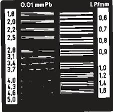 Тест-объект контроля пространственного разрешения ТПР-4-1