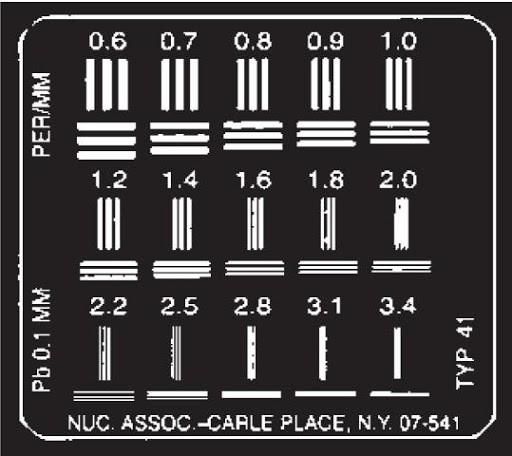 Тест-объект контроля пространственного разрешения ТПР-3-1