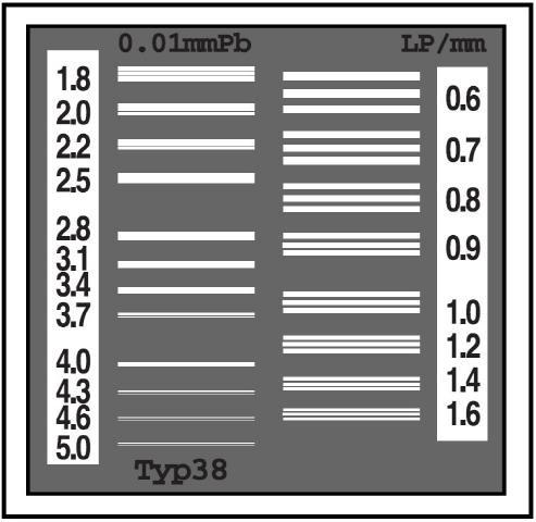 Тест-объект контроля пространственного разрешения ТПР-1