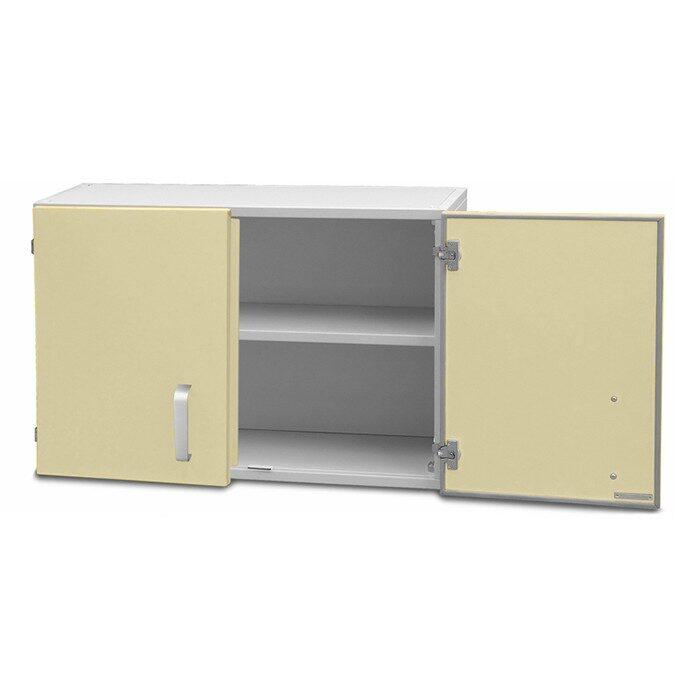 Шкаф медицинский настенный двустворчатый (с полками)