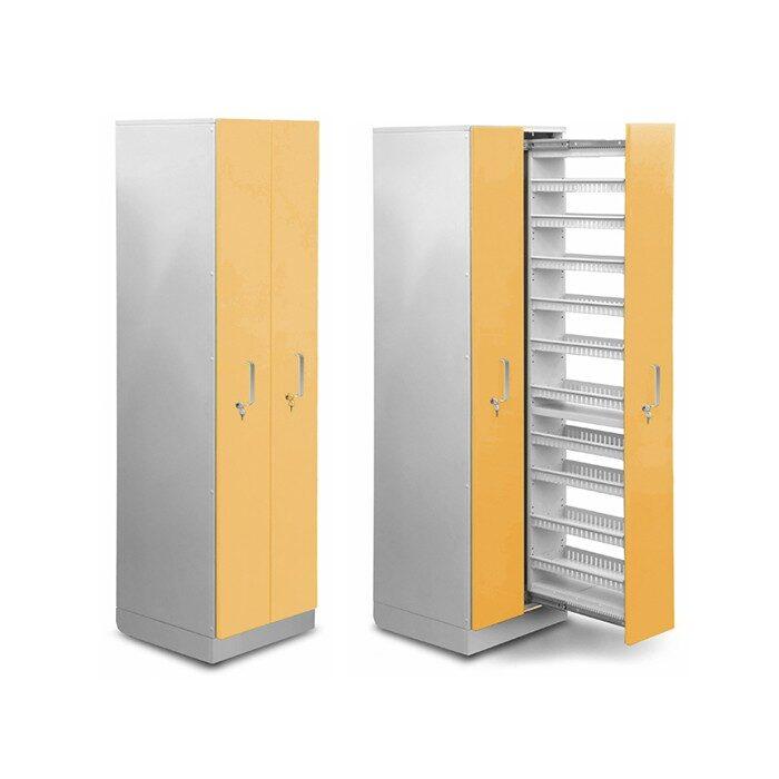 Шкаф медицинский высокий для медикаментов (с полками и антресольным шкафом)