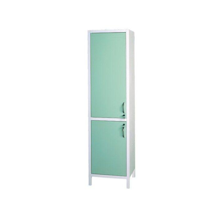 Шкаф медицинский металлический двухсекционный однодверный для медикаментов ШМ-1.301