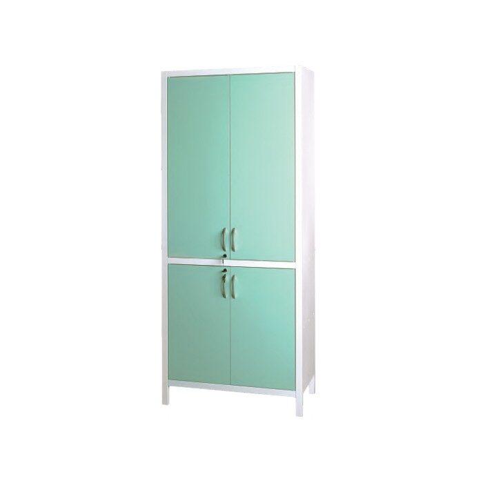 Шкаф медицинский металлический двухсекционный двухдверный для медикаментов ШМ-2.301